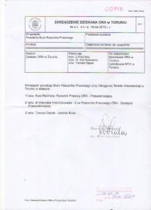 Zastępca Rzecznika Prasowego ORA Toruń